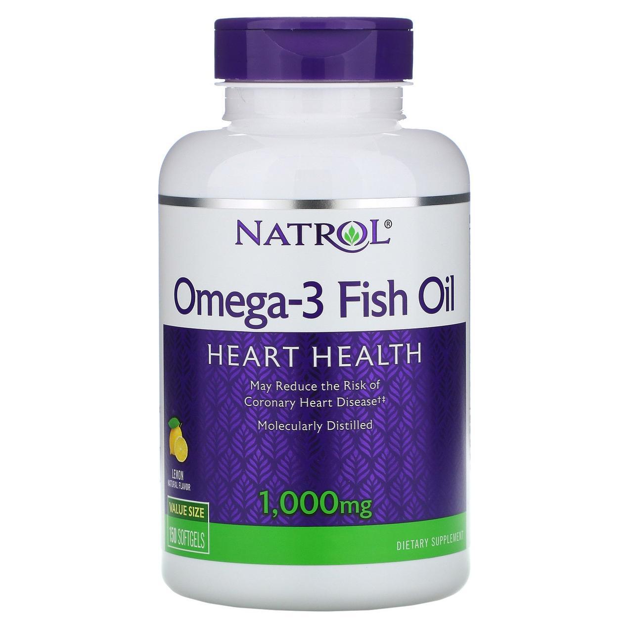 Риб'ячий жир в капсулах, Natrol, Омега-3, 150 капсул