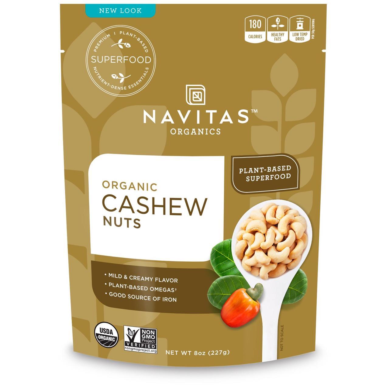 Navitas Naturals, Органические орехи кешью, 8 унций (227 г)