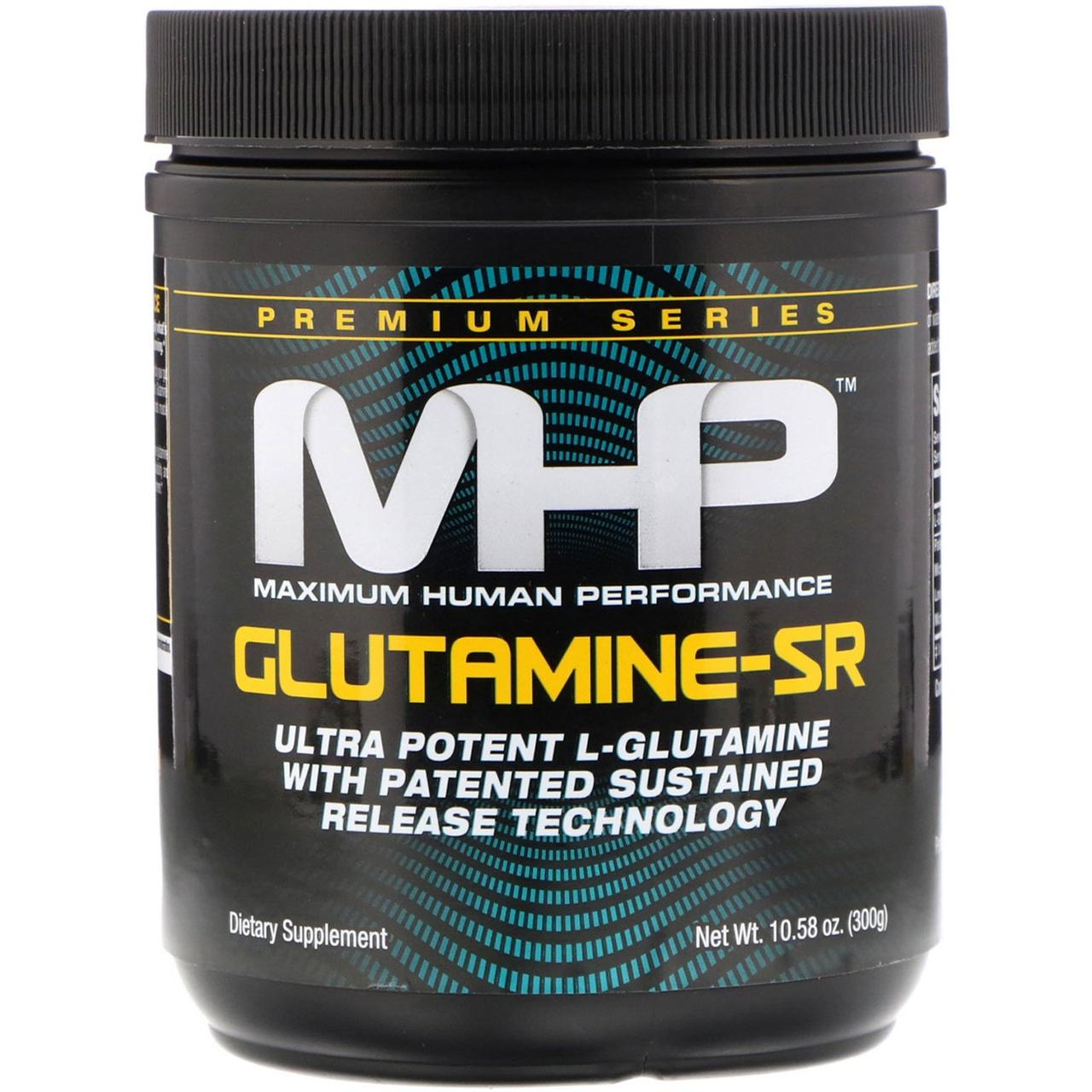 Maximum Human Performance, LLC, 'Глутамін-SR, без смакових добавок, 10.6 унцій (300 г)