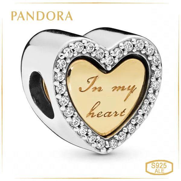 Пандора Шарм В моем сердце Позолота Pandora 767606CZ