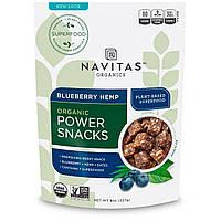Navitas Naturals, Органическая энергетическая закуска, Суперпища на основе черники и конопли, 8 унций (227 г)