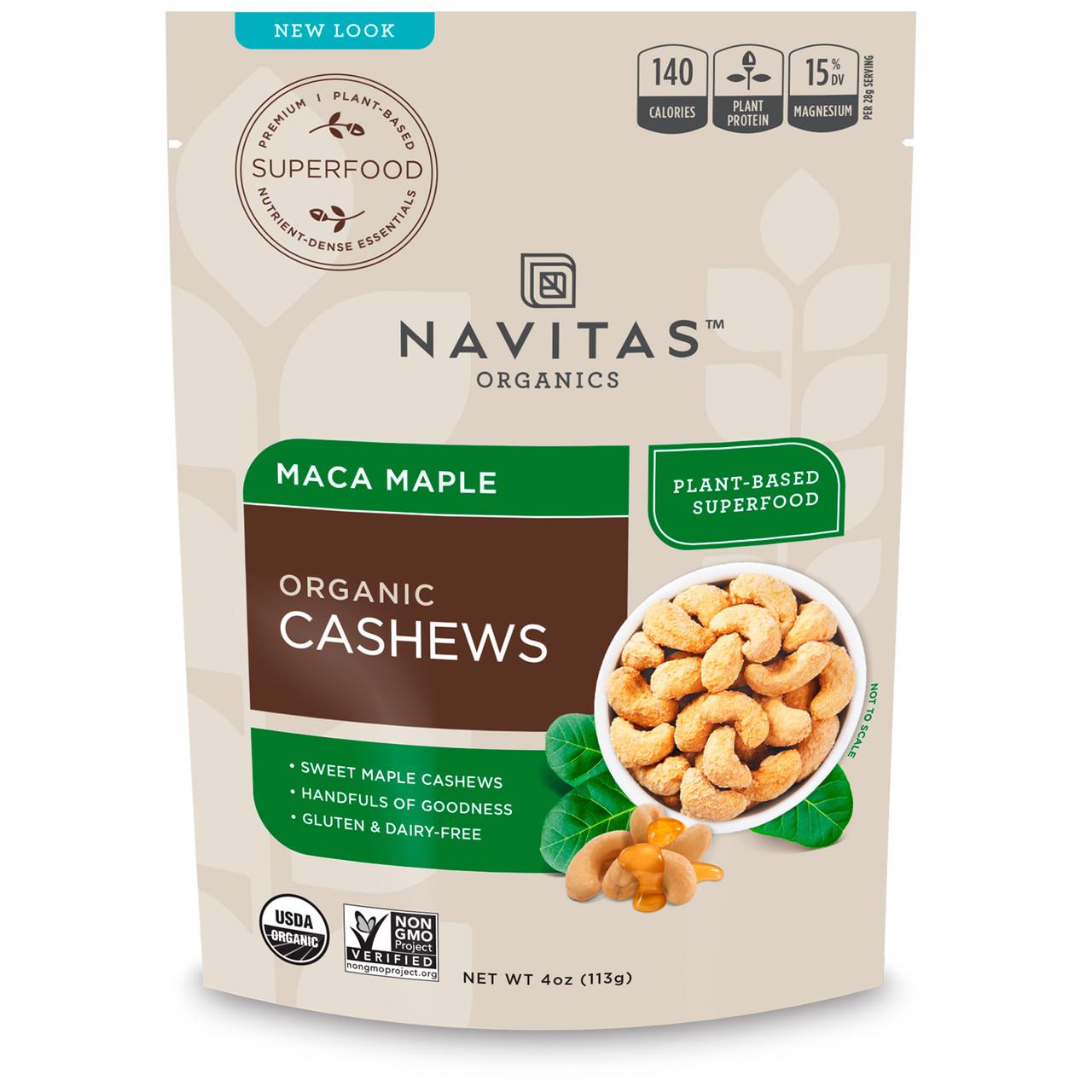 Navitas Naturals, Суперпродукти+ кешью, маку і клен, 4 унції (113 g)