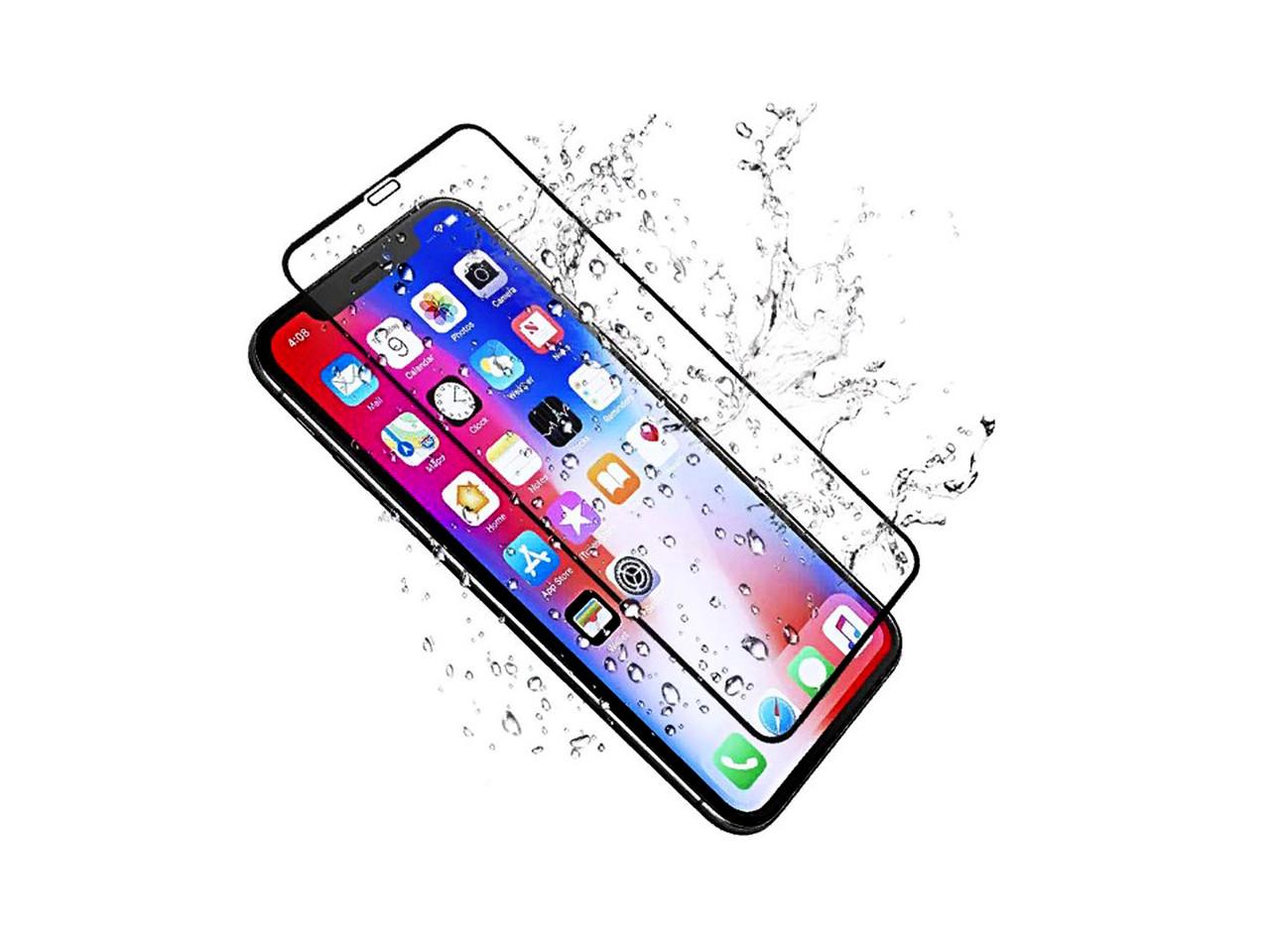 Защитное 5D cтекло Nano Flexible GLASS ITOP для Apple iPhone XR Full Cover Черный