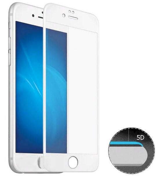 Защитное 5D cтекло Nano Flexible GLASS ITOP для Apple iPhone 6/6s Full Cover Белый