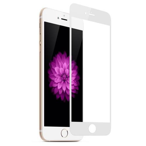 Защитное 5D cтекло Nano Flexible GLASS ITOP для Apple iPhone 8 Full Cover Белый