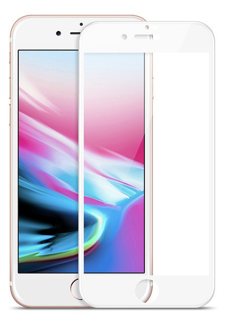 Защитное 5D cтекло Nano Flexible GLASS ITOP для Apple iPhone 7 Plus Full Cover Белый