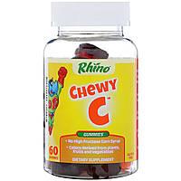 Nutrition Now, Rhino, Жевательные таблетки с витамином С, цинком и эхинацеей, 60 жевательных медведей, фото 1