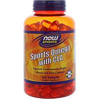 Спорт Омега с CLA , Now Foods, 120 капсул
