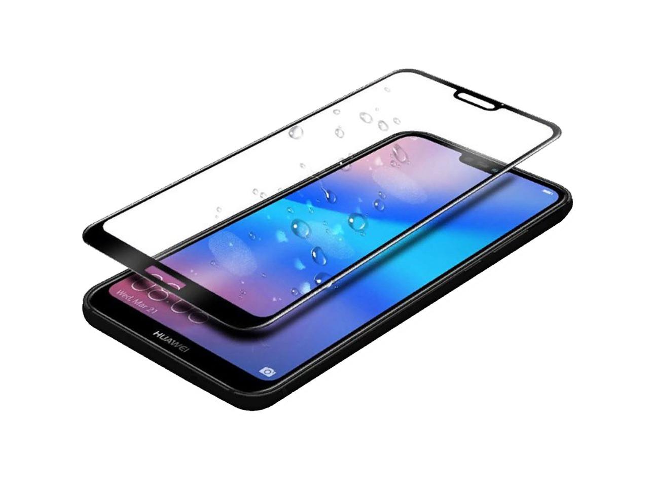 Защитное 5D cтекло Nano Flexible GLASS ITOP для Huawei P20 Lite Full Cover Черный