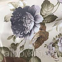 Щільна атласна шторна тканина з квітами, висота 2.8 м на метраж (630-1), фото 4