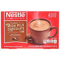 Какао зі смаком молочного шоколаду, Rich Milk Chocolate, Nestle Hot Cocoa Mix, 6 пакетів, по 20,2 г