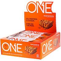 Oh Yeah!, Батончики One, зі смаком пирога з арахісовим маслом , 12 батончиків за 2.12 унції (60 г), фото 1