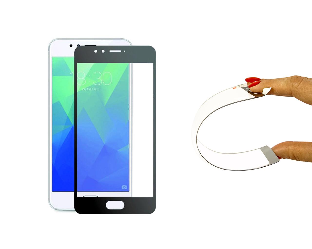 Защитное 5D cтекло Nano Flexible GLASS ITOP для Meizu M5s Full Cover Черный