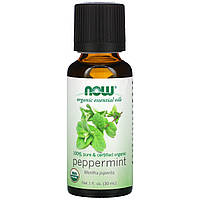 Мятное масло органик (Peppermint), Now Foods, 30 мл