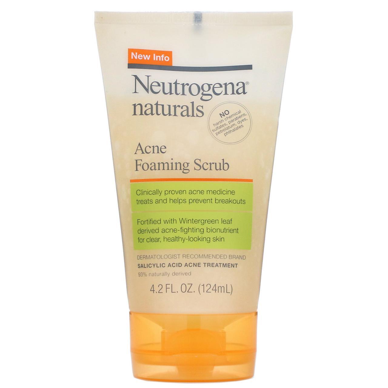 Neutrogena, Пенящийся скраб от акне, 124 мл (4,2 жидких унций)