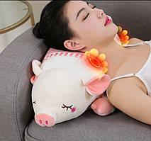 Масажна подушка Piggy з 20 масажними роликами, прогріванням і таймером.