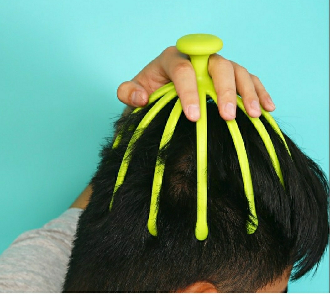 Масажер-антистрес для голови 12 пальців восьминога