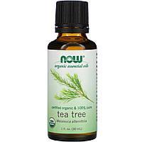 Органическое масло чайного дерева (Oil Tea Tree), Now Foods, 30 мл.