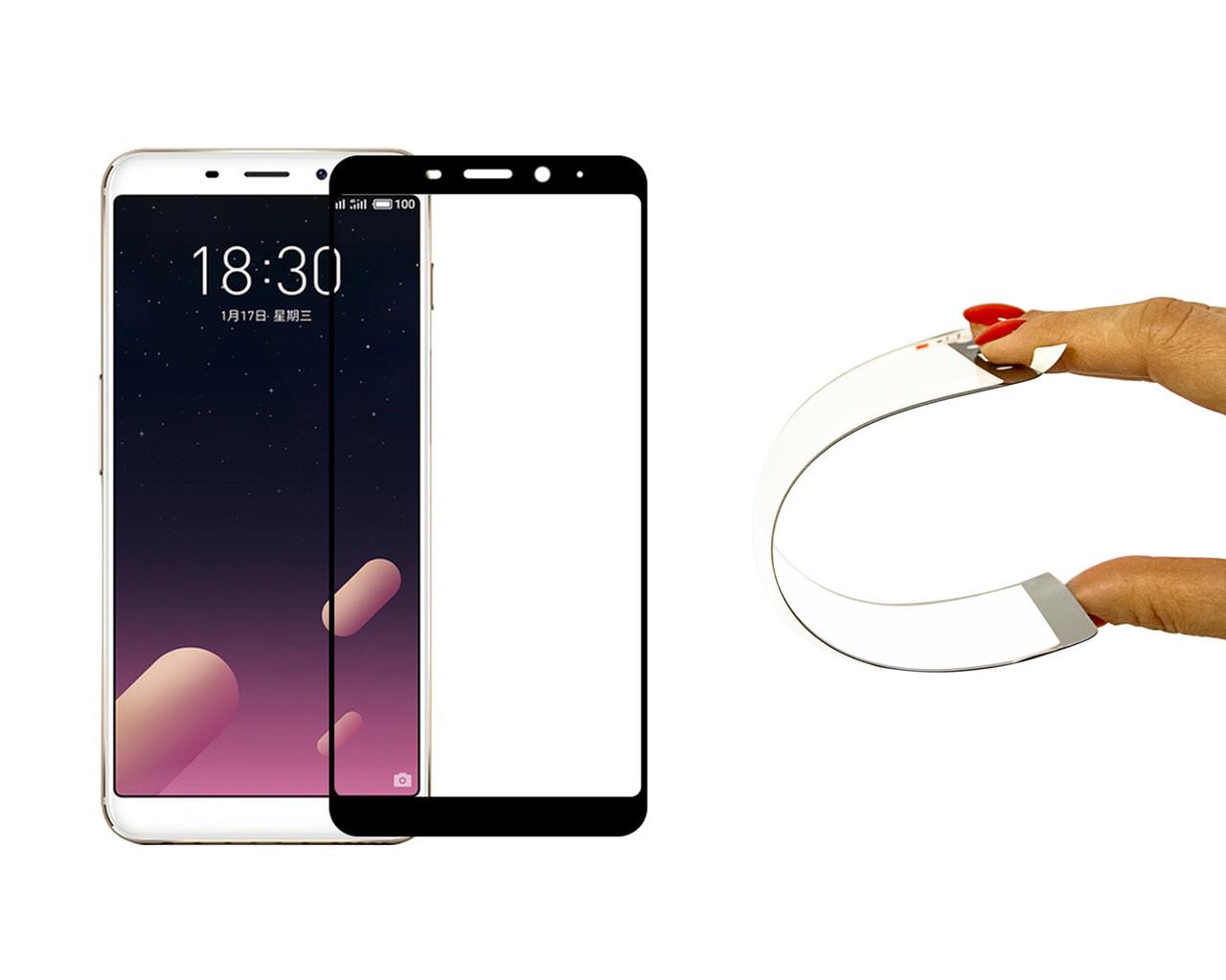 Защитное 5D cтекло Nano Flexible GLASS ITOP для Meizu M6s Full Cover Черный