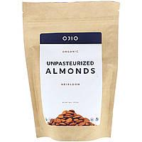 Непастеризованный миндаль, Unpasteurized Almonds, Ojio, 227 г