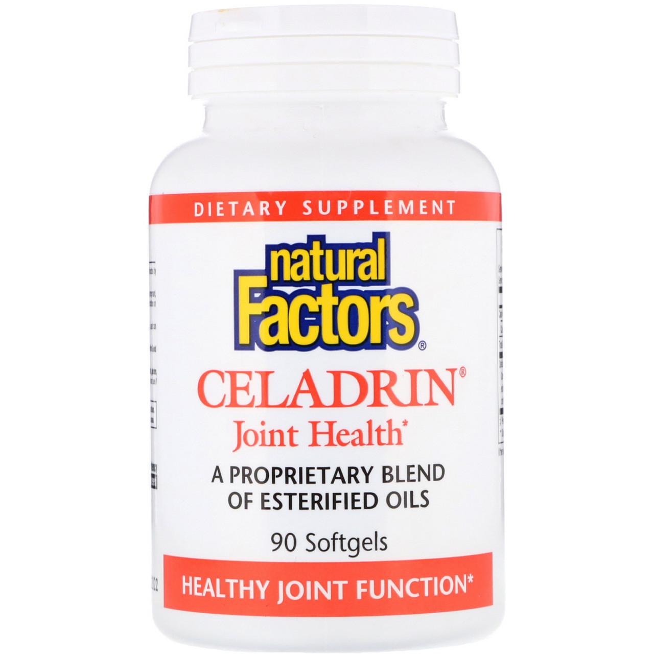 Целадрин, Здоровье суставов, Celadrin, Natural Factors,  90 кап.