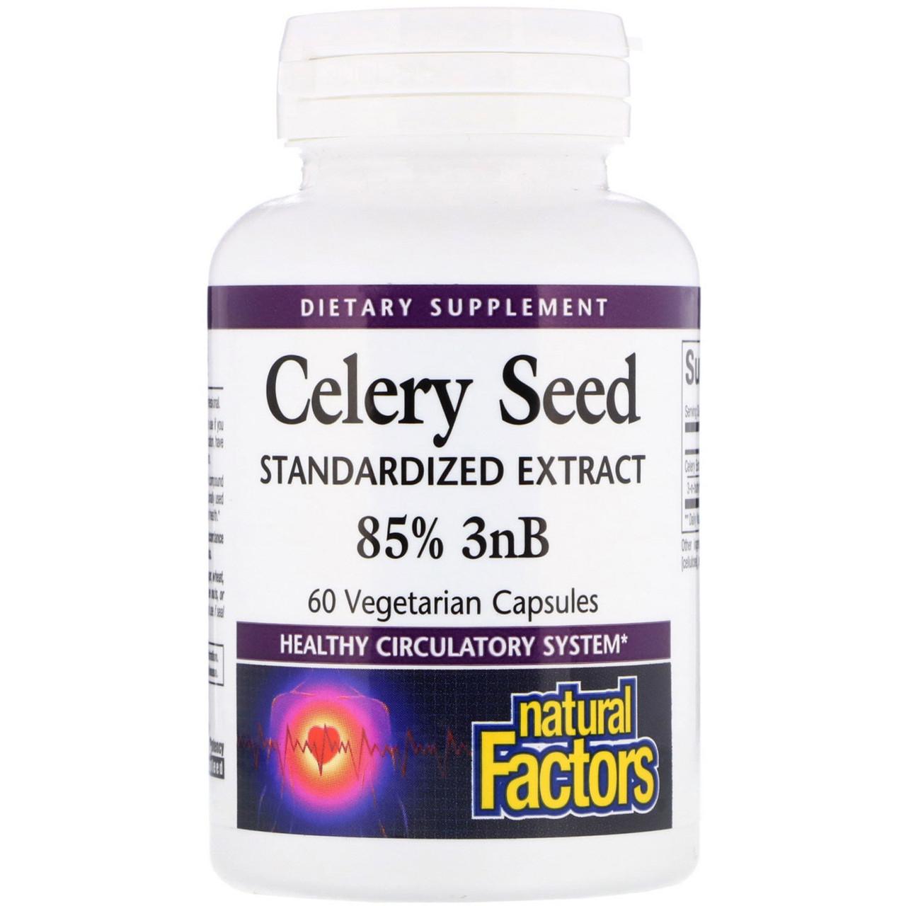 Селера, Celery Seed, Natural Factors, 60 капсул