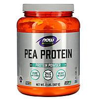 Гороховый протеин непреправленный, Now Foods, 907 гр