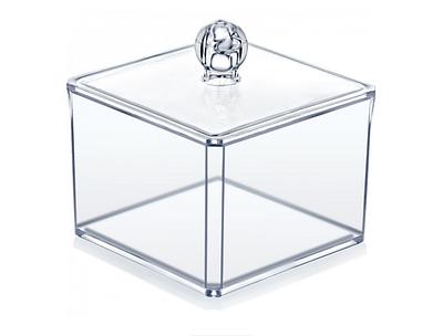 Подставка для ватных палочек и салфеток прозрачная Akay