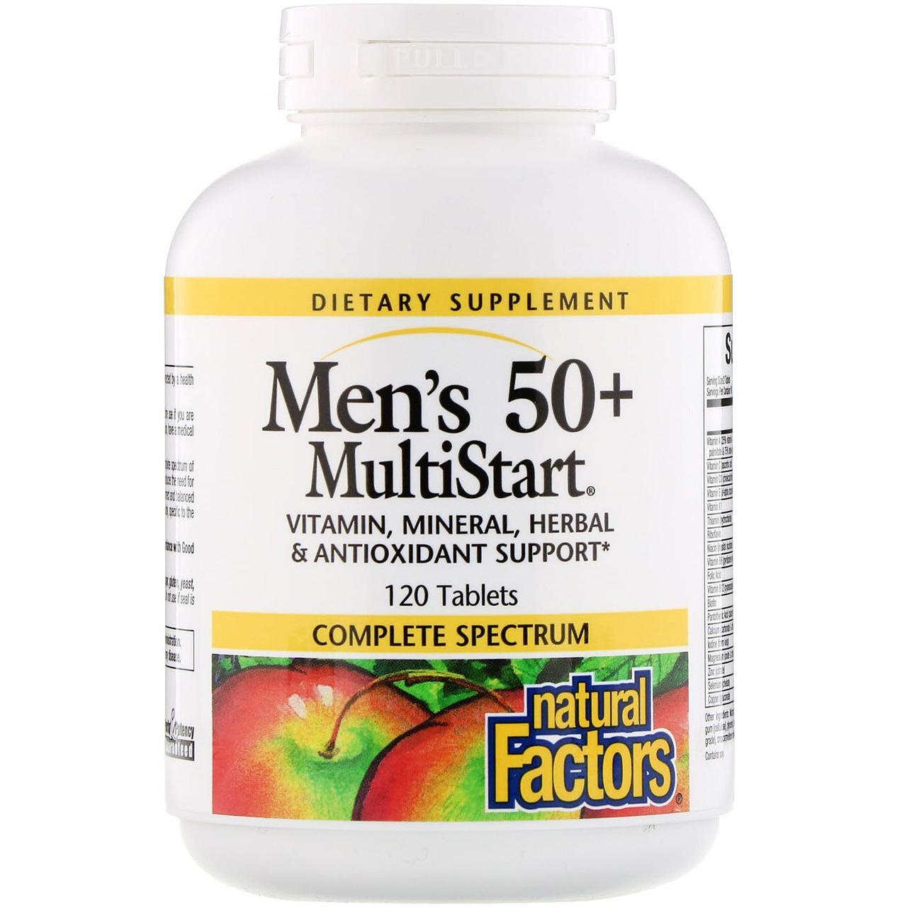 Витаминый комплекс, Natural Factors 50+, 120 таблеток