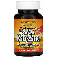 Цинк для детей, Kid Zinc Lozenges, Nature's Plus, 90 жеват. конфет