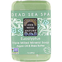 Мыло эквалиптовое, Soap, One with Nature, 200 гр.