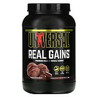 Гейнер, вкус шоколадного мороженого, (Real Gains), Universal Nutrition, 1.73 кг