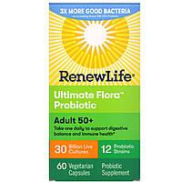 Пробіотики, Renew Life, 50+, 60 капсул, фото 1