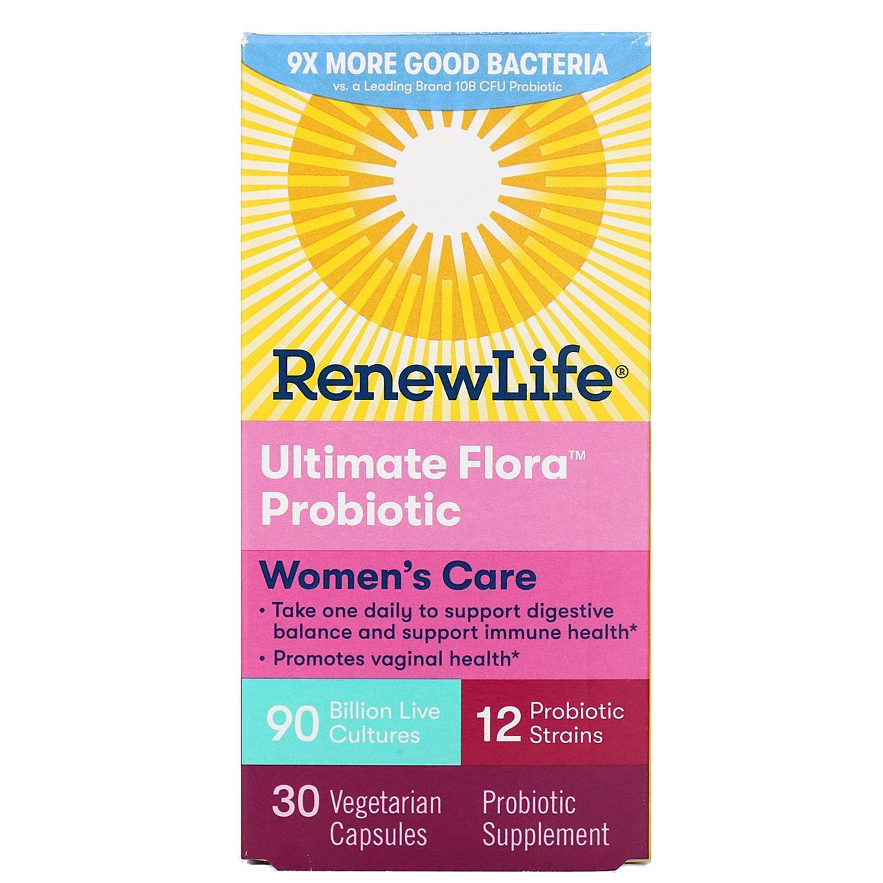 Пробиотики, Renew Life, для женщин, 30 капсул