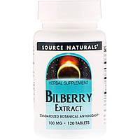 Экстракт черники, Source Naturals, 120 таблеток