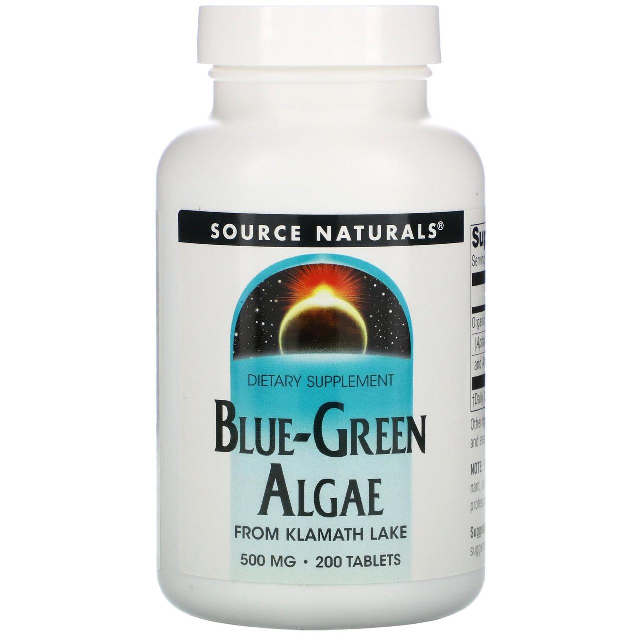 Синьо-зелені водорості, Source Naturals, 200 пігулок