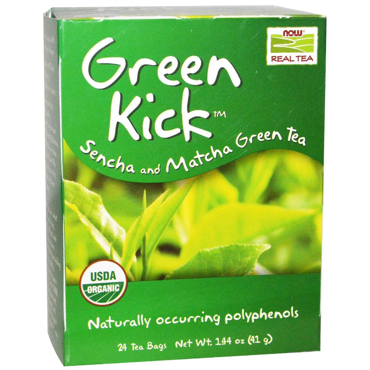 Чай Сенча і Матчу, Now Foods, 24 пак.(41 р.)