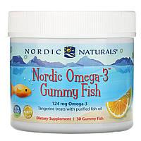 Рыбий жир для детей (мандарин), Nordic Naturals, 30 желе