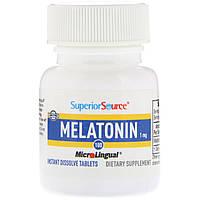Superior Source, Мелатонин, 100 мгновенно растворимых таблеток