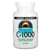 Вітамін С, Source Naturals, 1000 мг, 100 таблеток