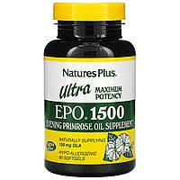 Масло вечерней примулы (Ultra EPO 1500), Nature's Plus, 60 кап.