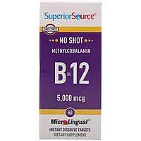 Superior Source, Метилкобаламин B12, 5000 мкг, 60 микролингвальных таблеток