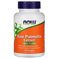 Со Пальметто, Now Foods, мужское здоровье, 90 капсул