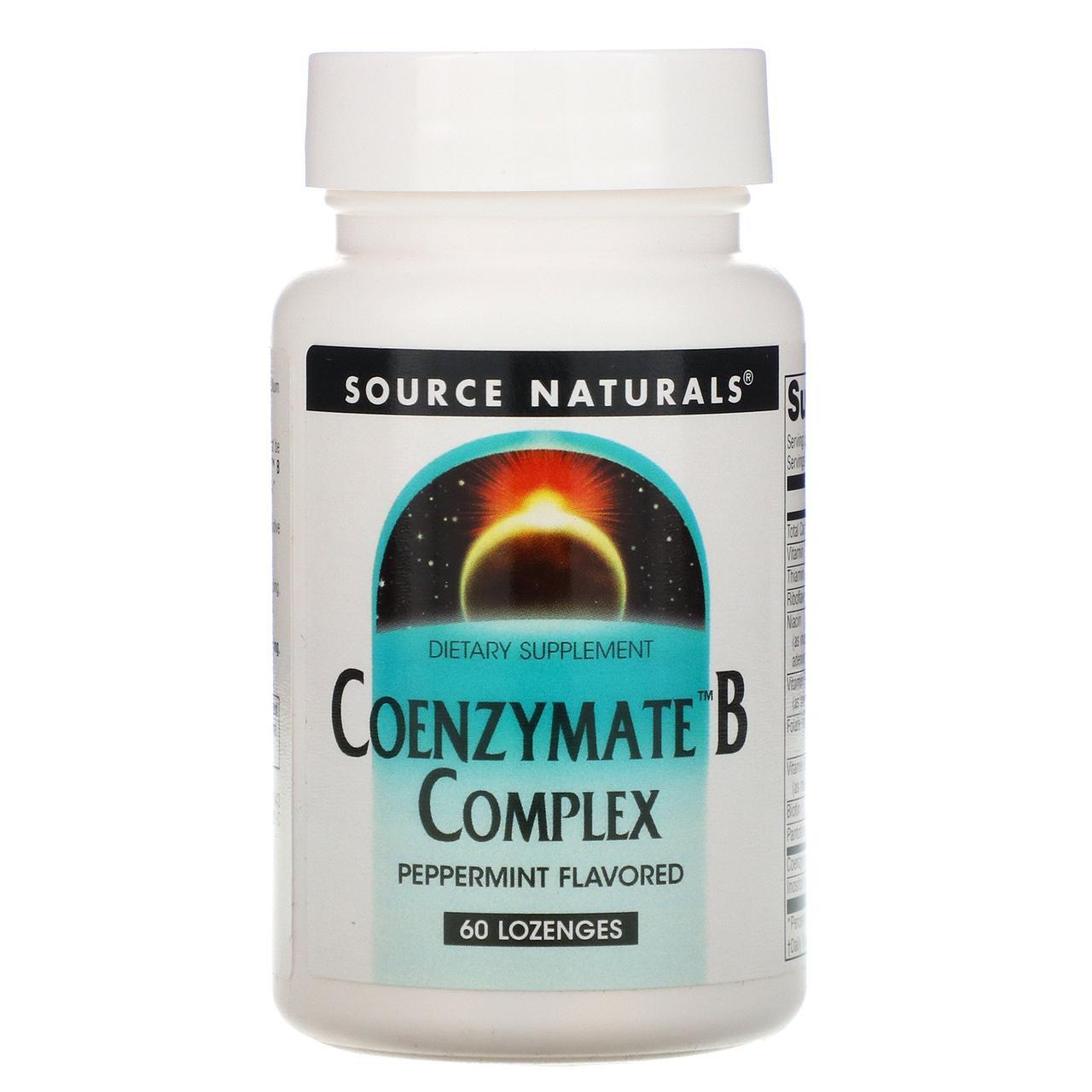 Витамин В (комплекс), Coenzymate B Complex, Source Naturals, 60 таблеток