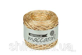 Пряжа трикотажна Maccaroni Metalliс, колір Золото
