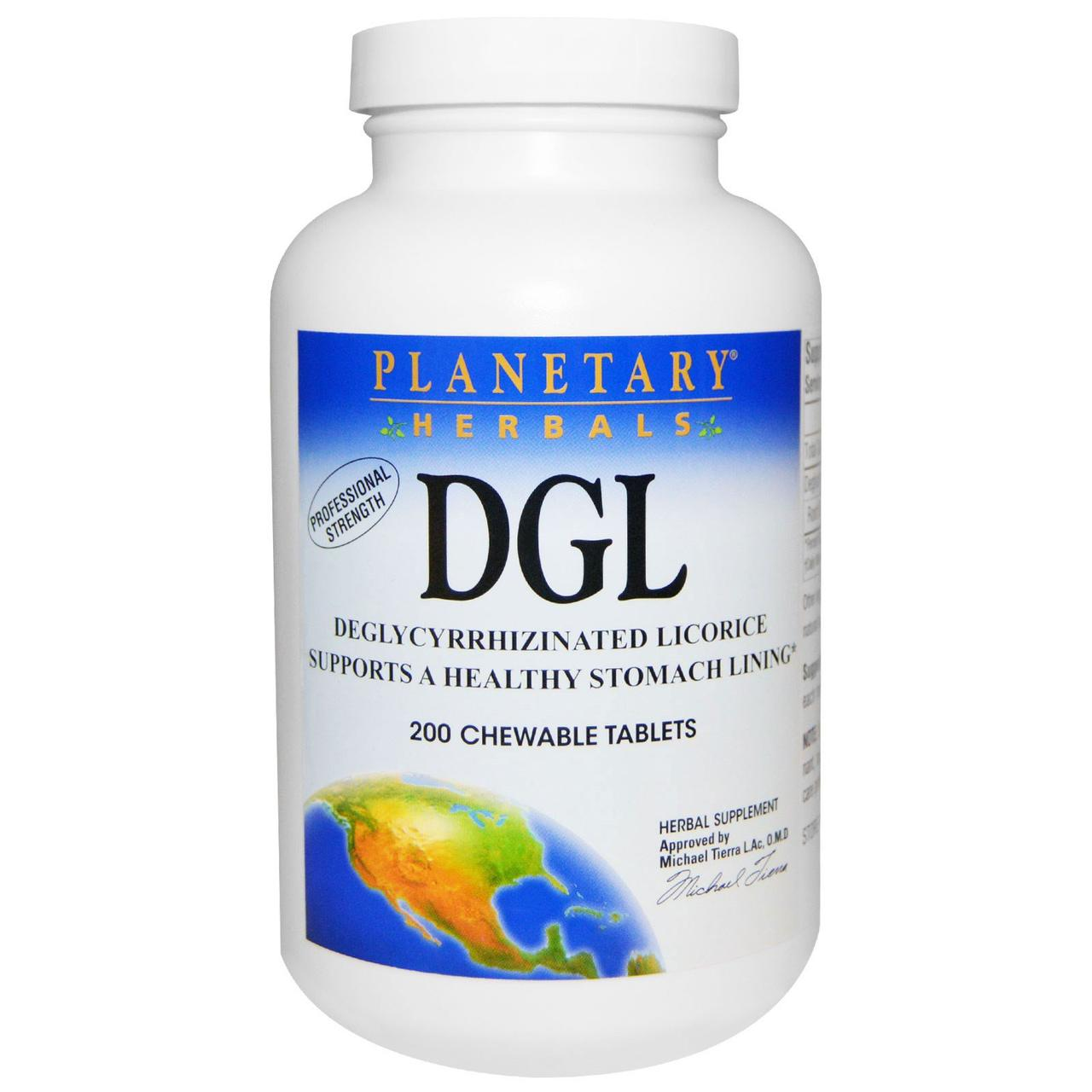 Корінь солодки (Deglycyrrhizinated Licorice), Planetary Herbals, 200 пігулок
