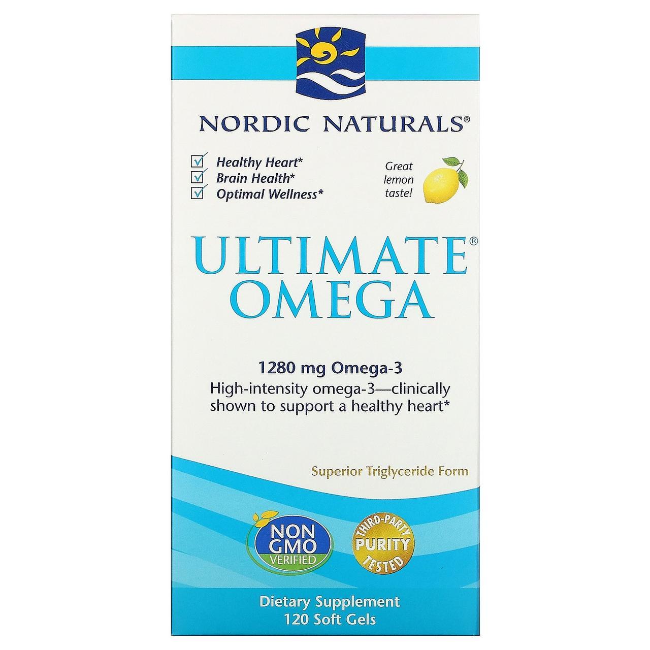 Рыбий жир в капсулах, Nordic Naturals, 120 капсул