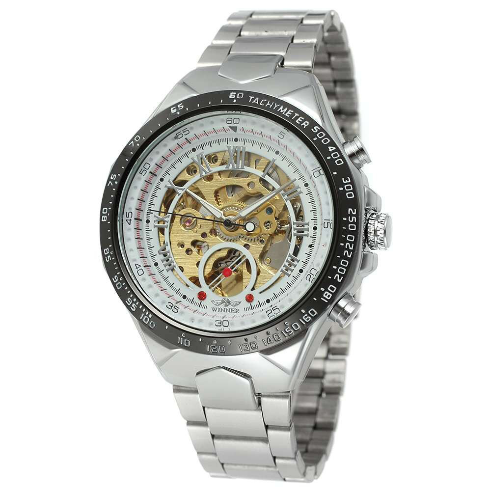 Winner 8067 Silver-Black-Gold Cristal