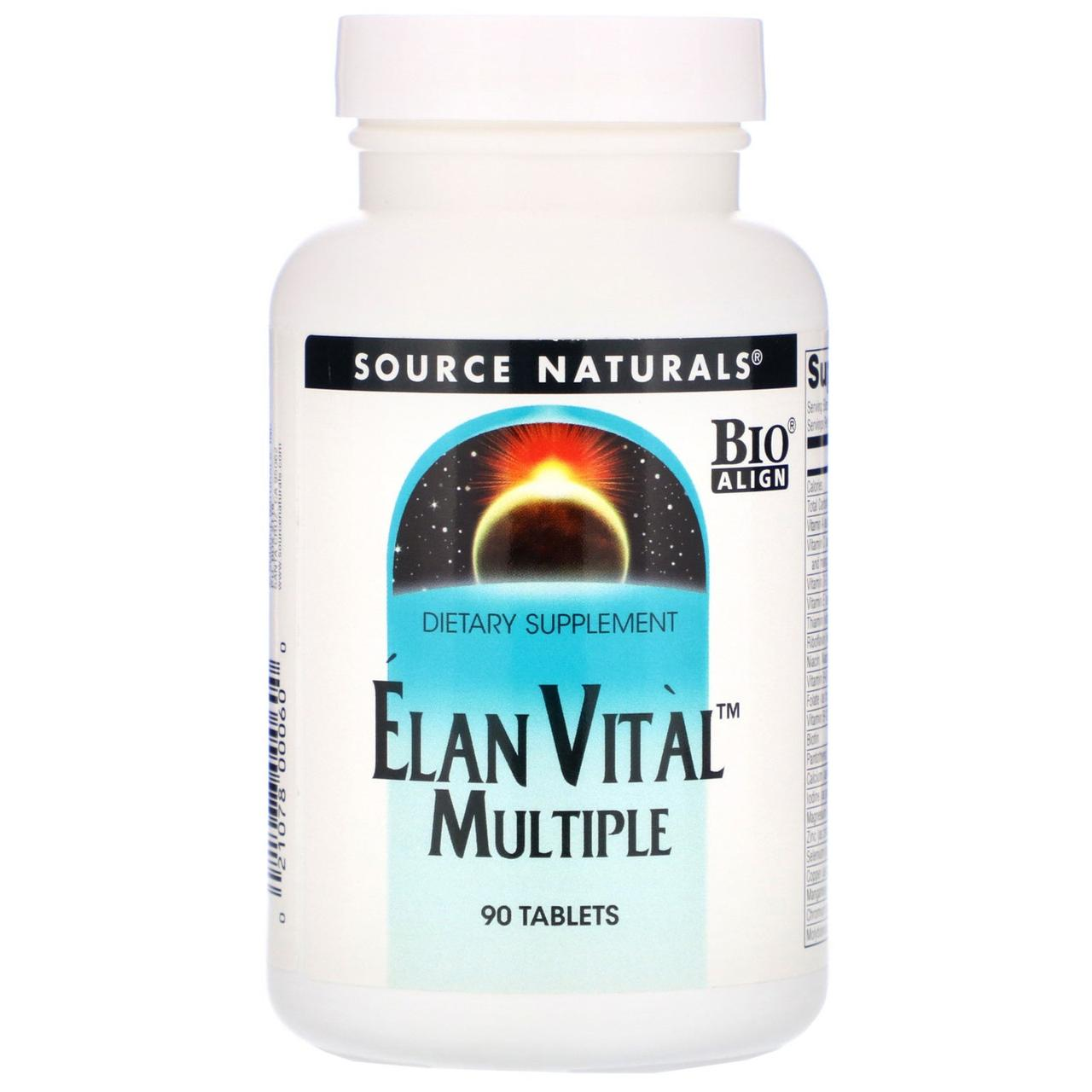 Мультивитамины, Source Naturals, 90 таблеток
