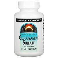 Глюкозамін сульфату, Source Naturals, 500 мг, 120 кап.